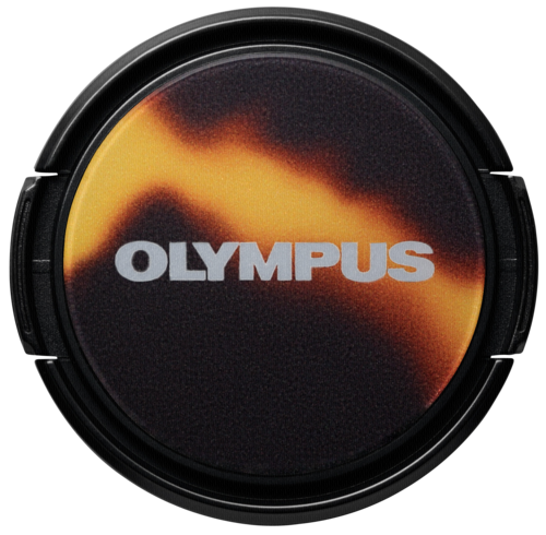 Olympus LC-37 PR AMB Dress-Up Lens Cap Tortoise Shell Look