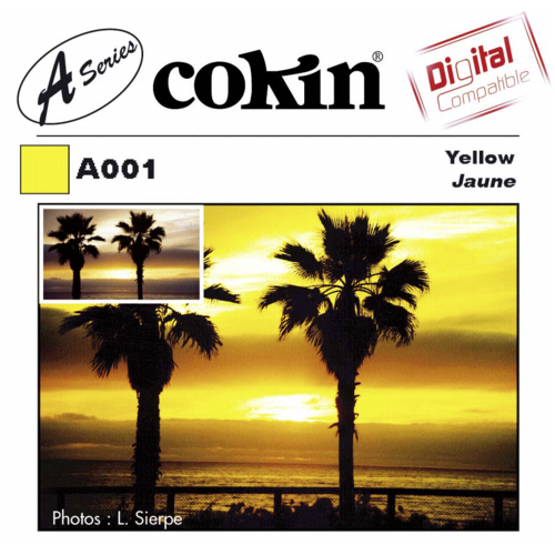 Cokin A001 Yellow Resin Filter for Black & White Film