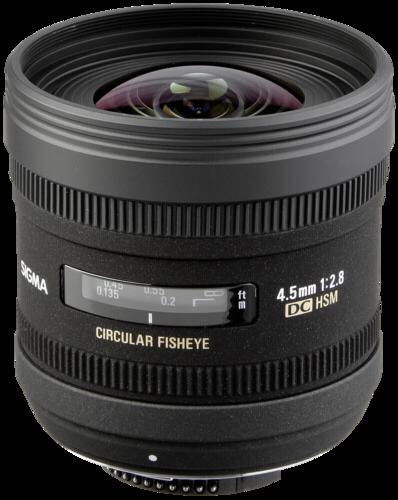 Sigma EX 4.5mm f/2.8 DC Fisheye HSM Canon