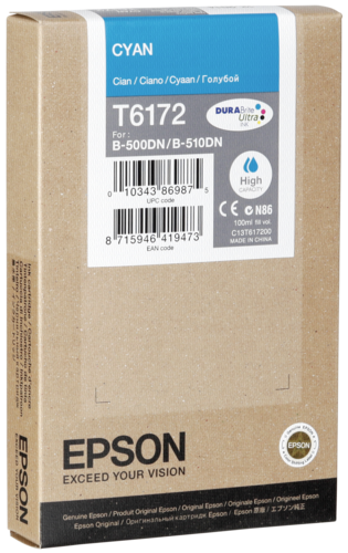 Epson Cartridge T6172 Cyan