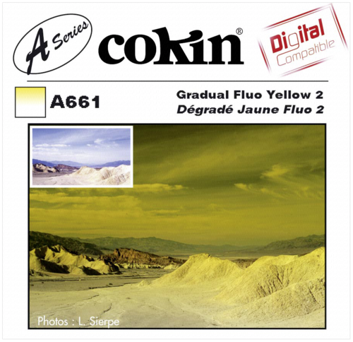 Cokin A661 Graduated Fluorescent Yellow Y2 Resin Filter