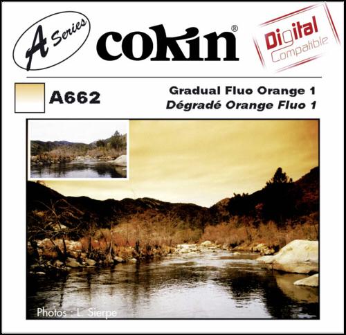 Cokin A662 Graduated Fluorescent Orange 1 Resin Filter
