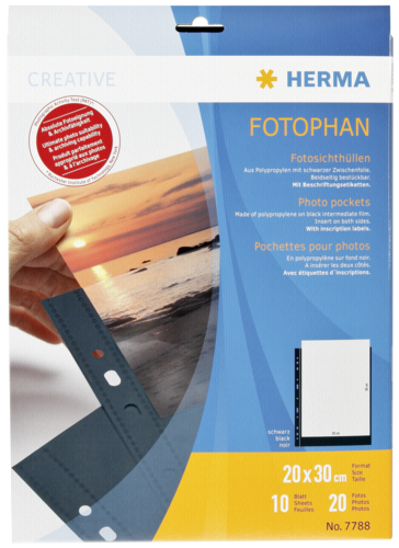 Herma fotophan 20x30 black 10 Sheets 7788