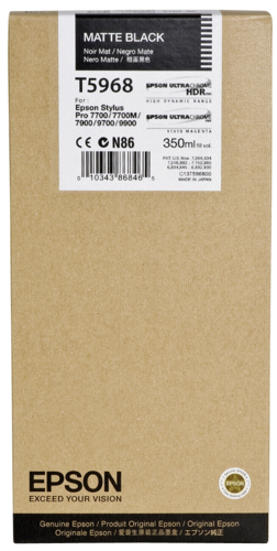 Epson Cartridge T5968 Matte Black