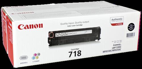 Canon Toner Cartridge 718BK Black 1x2