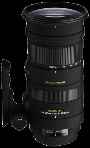 Sigma 50-500mm f/4.5-6.3 OS DG HSM Sony