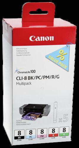 Canon CLI-8 BK/PC/PM/R/G Multipack