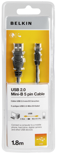 Belkin A Mini B 5-pol USB 2.0 Cable 1.8m