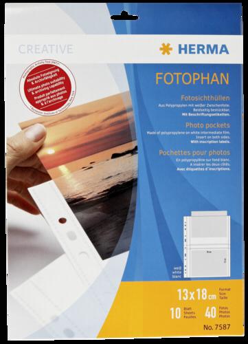 Herma fotophan 13x18 10 Sheets white 7587