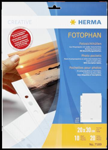 Herma fotophan 20x30 10 Sheets white 7589