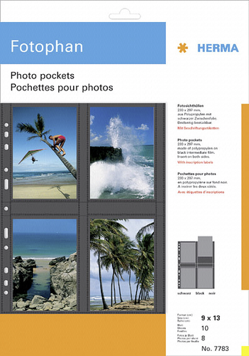 Herma fotophan 9x13 vertical 10 Sheets black 7783
