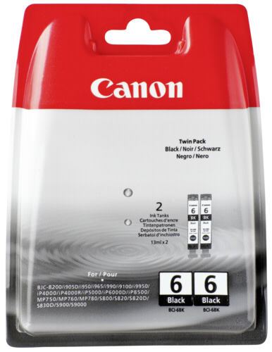 Canon BCI-6 BK Black Twin Pack