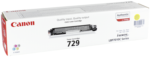 Canon Toner Cartridge 729Y Yellow