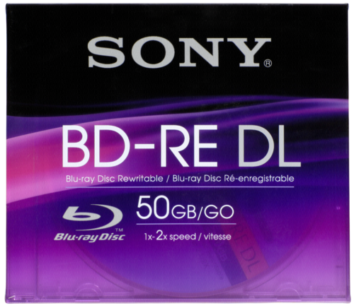 Sony Blu-Ray BD-RE 50GB 1-2x speed