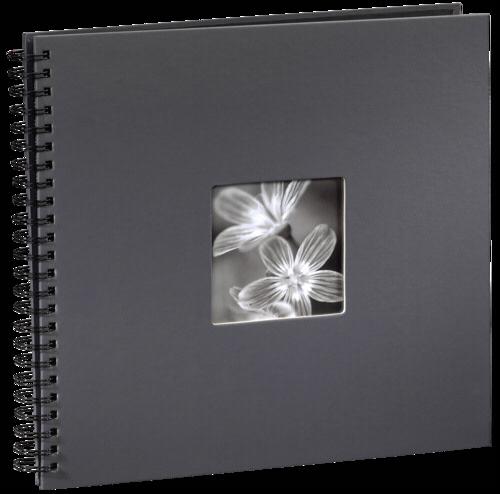 Hama Fine Art Spiral Grey 36x32 - 50 black pages