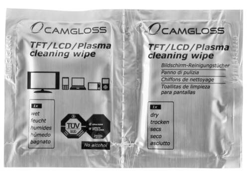 Camgloss TFT/LCD Cleaning Wipes DUO 1x5