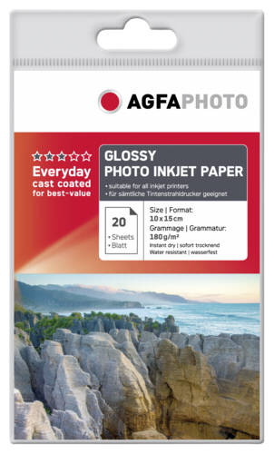 AgfaPhoto Everyday Photo Inkjet Paper Glossy 10x15 180g (20 sheets)