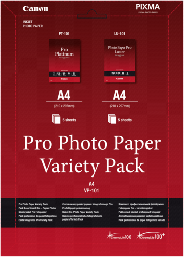 Canon VP-101 Pro Photo Variety Pack A4