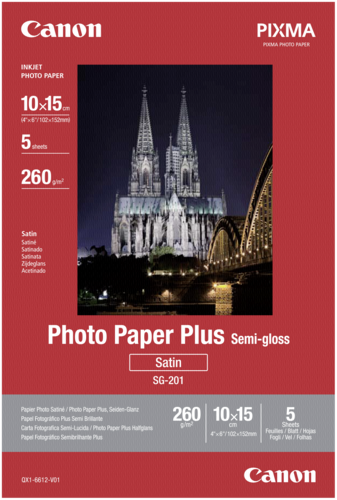 Canon SG-201 Semi Gloss 10x15cm 260gr (5 sheets)
