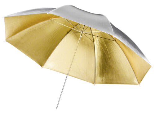 Walimex pro 2in1 Reflex Umbrella golden/silver 84cm