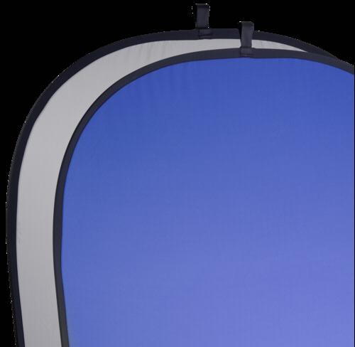 Walimex 2 in 1 Foldable Background 180x210cm Grey/Blue