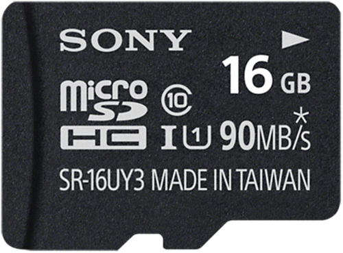 Sony microSDHC Performance 16GB Class 10 + Adapter