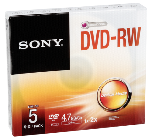 Sony DVD-RW 4.7GB 1-2x speed 1x5