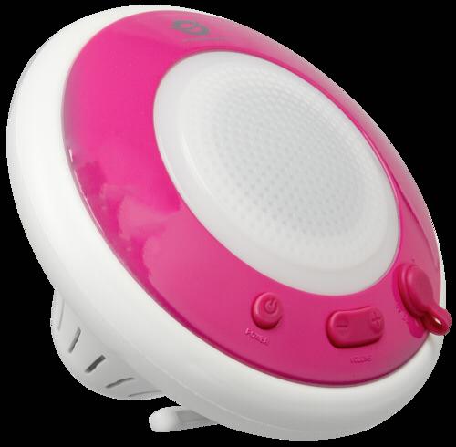 Conceptronic Wireless waterproof floating speaker light pink