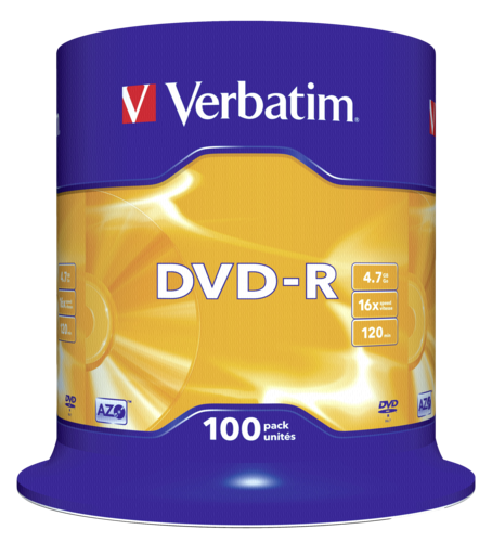 Verbatim DVD-R 4.7GB 16x speed 1x100