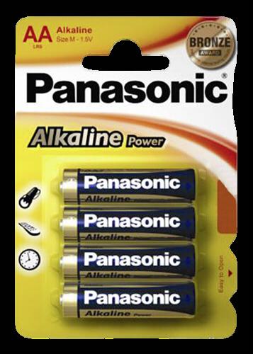 Panasonic Alkaline Power AA LR06 1x4