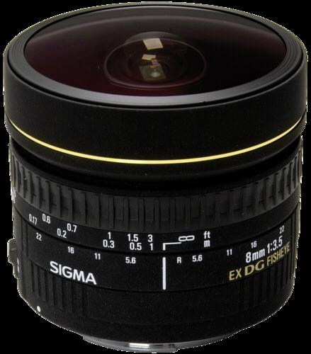 Sigma EX 8mm f/3.5 DG Fisheye Nikon
