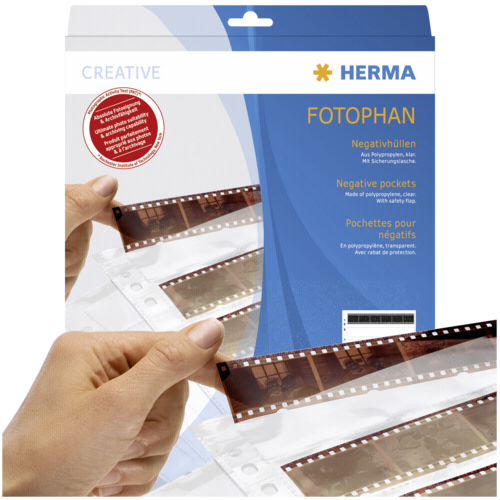 Herma Negative pockets PP clear 100 Sheets/4-Strips 7768