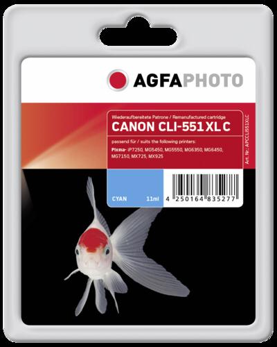 AgfaPhoto CLI 551 XL C Cyan