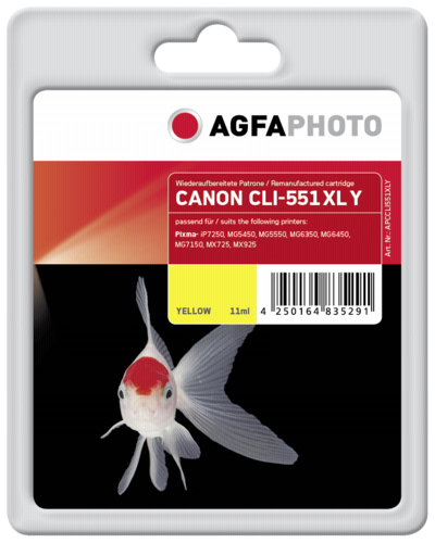 AgfaPhoto CLI 551 XL Y Yellow