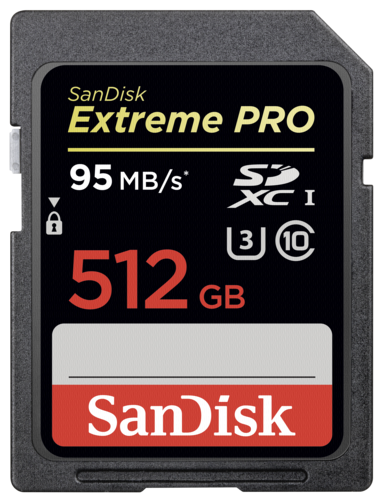 SanDisk Extreme Pro SDΧC 512GB 95MB/s