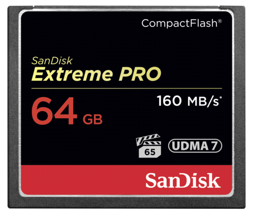 SanDisk Extreme Pro Compact Flash 64GB 160MB/s