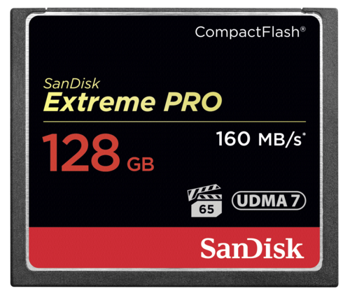 SanDisk Extreme Pro Compact Flash 128GB 160MB/s