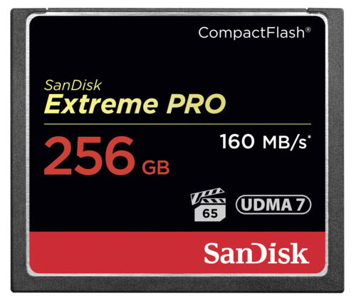 SanDisk Extreme Pro Compact Flash 256GB 160MB/s