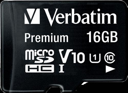 Verbatim microSDHC 16GB with Adapter