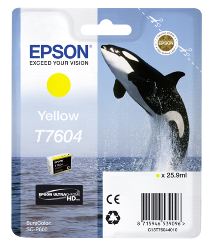 Epson Cartridge T7604 Yellow