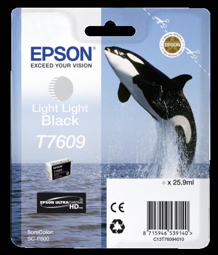 Epson Cartridge T7609 Light Light Black
