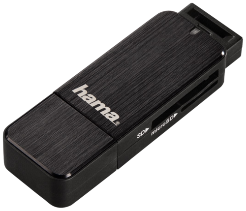 Hama Multi Card Reader Alu Black USB 3.0
