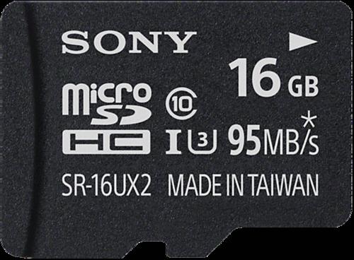Sony microSDHC Expert 16GB Class 10 UHS-I U3 + Adapter