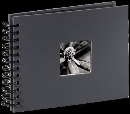 Hama Fine Art Spiral Grey 24x17 - 50 black pages