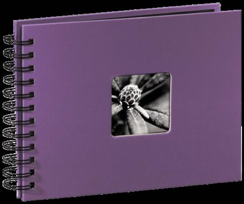 Hama Fine Art Spiral Lila 24x17 - 50 black pages
