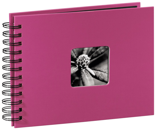 Hama Fine Art Spiral Pink 24x17 - 50 black pages
