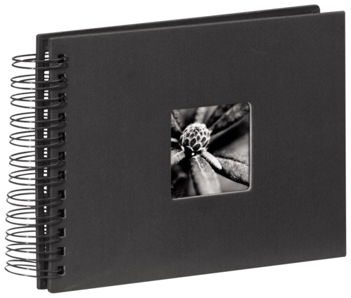 Hama Fine Art Spiral Black 24x17 - 50 black pages