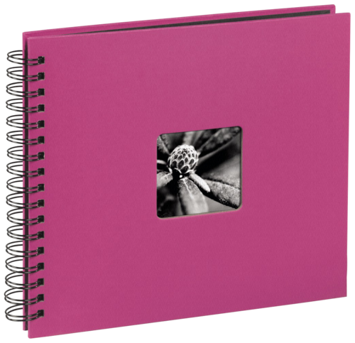 Hama Fine Art Spiral Pink 28x24 - 50 black pages