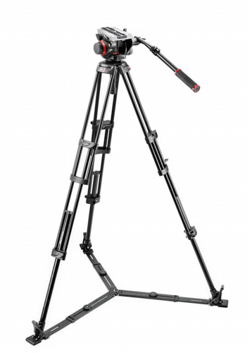Manfrotto 504HD Head with 546GBK Aluminum Tripod System