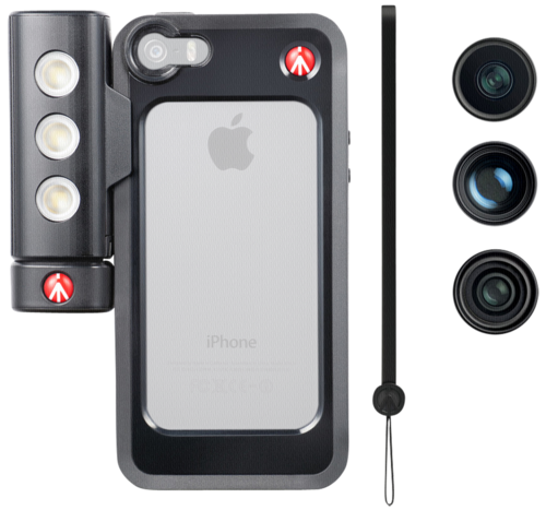 Manfrotto KLYP + Set 3 Case + LED + lenses